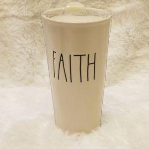"""Rae Dunn """"faith"""" travel mug"""